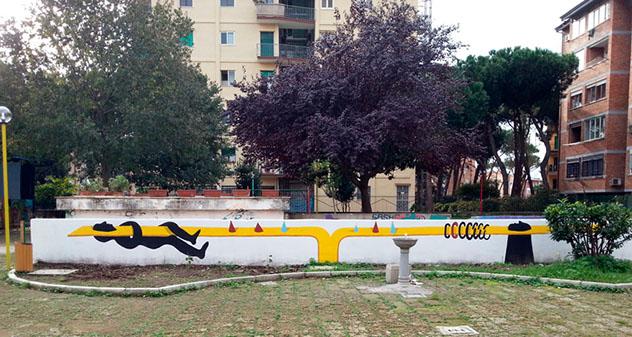 Nápoles: arte urbano de Cyop & Kaf en el Parco don Gallo