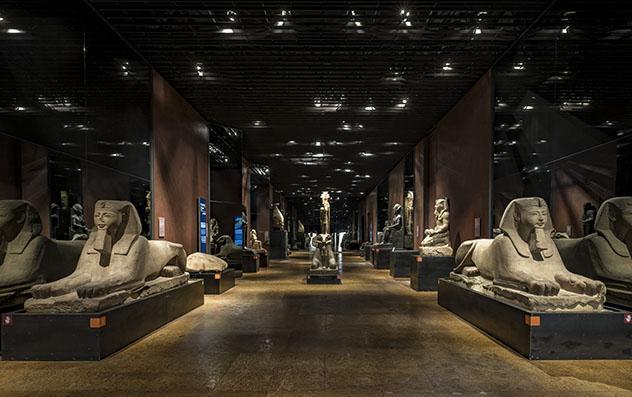 Sala 14 de la Galería de los Reyes, Museo Egipcio de Turín, Piamonte, Italia © www.museoegizio.it