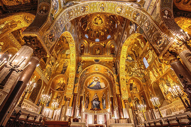 Cappella Palatina de Palermo, Sicilia, Italia