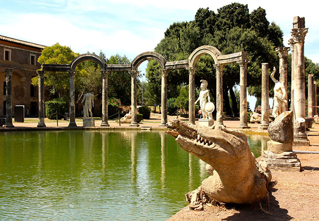 Villa Adriana de Tivoli, Italia