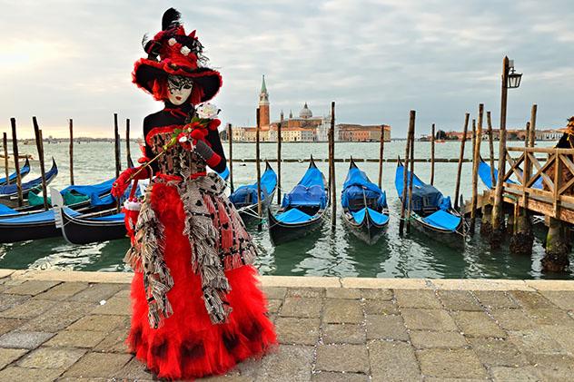 Europa en invierno: Carnaval de Venecia, Italia