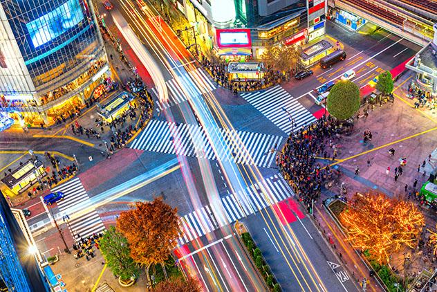 El famoso cruce de Shibuya, Tokio, JJOO 2020