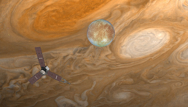 El planeta Júpiter, sistema solar, universo