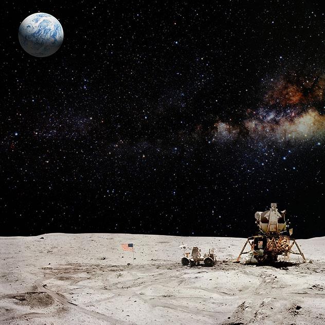 La Luna, sistema solar, universo