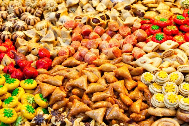 Dulces, gastronomía de Marruecos © Tony Zelenoff / Shutterstock