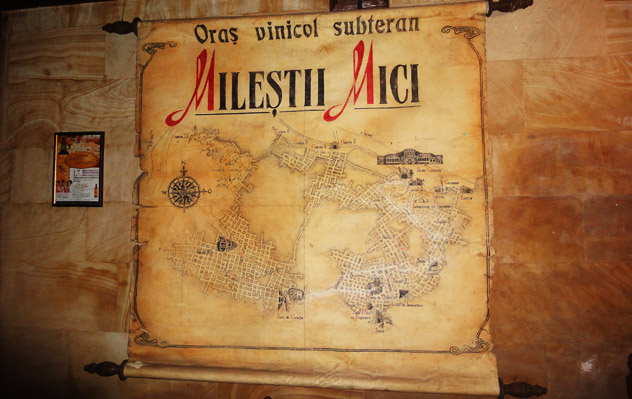 Plano de la bodega subterránea de Milestii Mici, Moldavia © www.milestii-mici.md