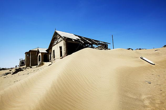 a cidade fantasma de Kolmanskop, Namíbia
