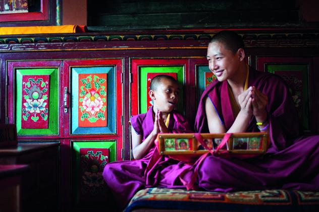 Monjes del monasterio de Bodhnath, Katmandú, Nepal © DET-ANAN / Shutterstock
