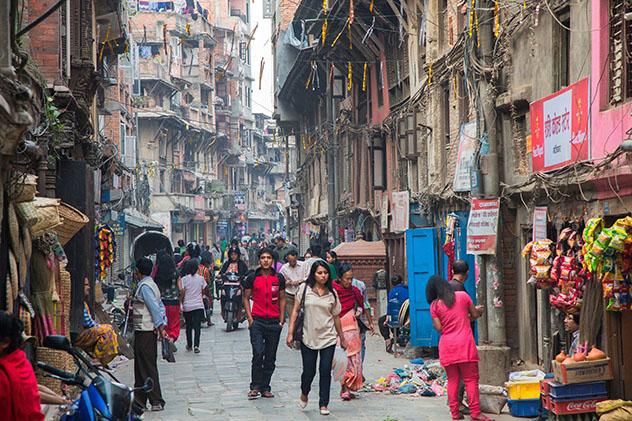 Calles de Katmandú, Nepal