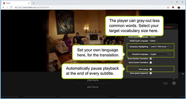 LLN ayuda a los usuarios de Netflix a entender mejor las series en versión original.Imagen de LLN