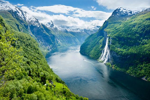 Geirangerfjord, fiordo de Noruega © Justin Foulkes / Lonely Planet