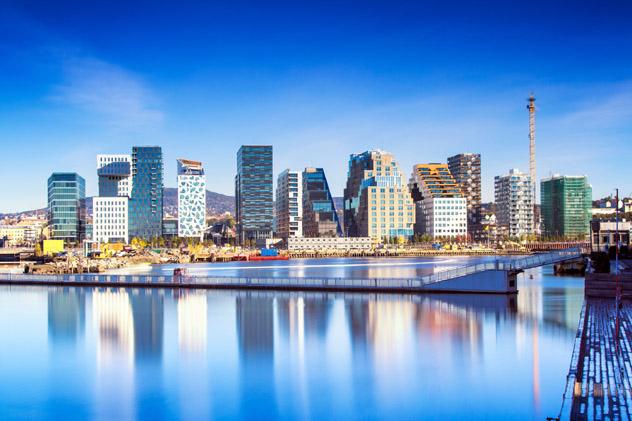 Los 12 edificios del Barcode de Bjørvika, Oslo, Noruega © Baiaz /Getty Images