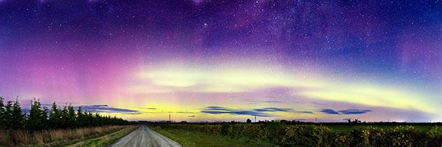 Cielo oscuro: aurora austral en Nueva Zelanda
