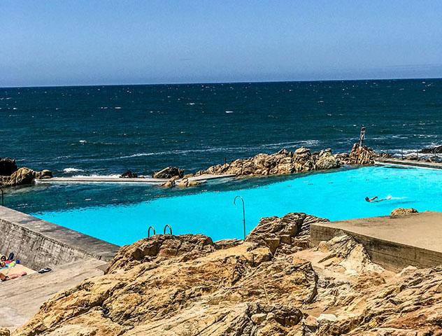 Piscina oceánica: Piscina das Máres, Matosinhos, cerca de Oporto, Portugal