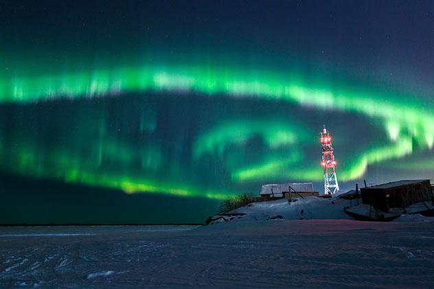 Aurora boreal en Rusia, Naryan-Mar