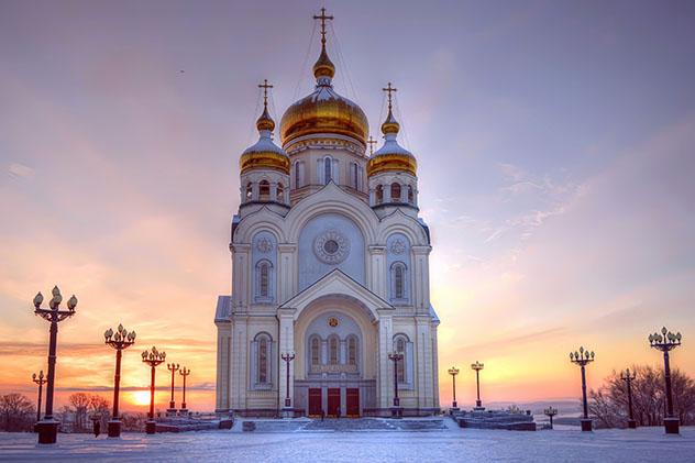 Extremo Oriente ruso: Catedral de la Transfiguración de Jabáros