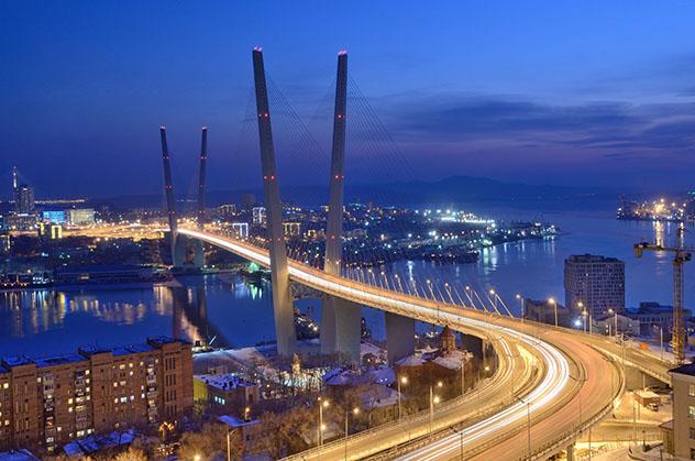 Extremo Oriente ruso: bahía del Cuerno de Oro en Vladivostok
