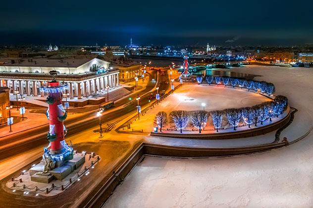 Fin de Año en San Petersburgo, isla Vasilievski