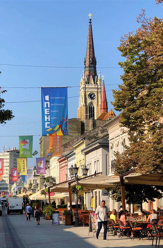 Novi Sad, Serbia: Corso, la principal avenida