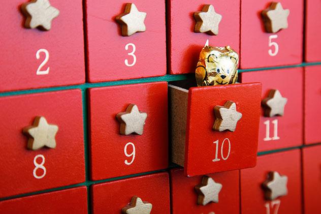 Calendario de adviento con sorpresas