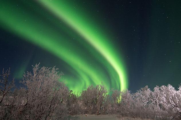Aurora boreal en Suecia, Parque Nacional de Abisko