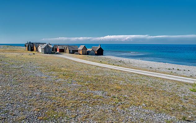 Paisaje de Gotland, Suecia: película Fresas salvajes