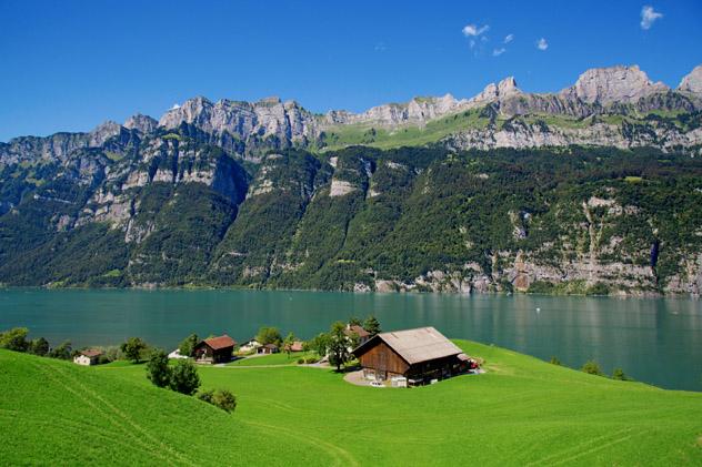 St Gallen, prados de Appenzell, Alpes, Suiza © Fedor Selivanov / Shutterstock