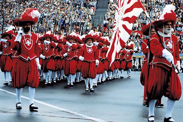 Uno de los desfiles de la fiesta Fête des Vignerons, Vevey, Suiza © www.fetedesvignerons.ch
