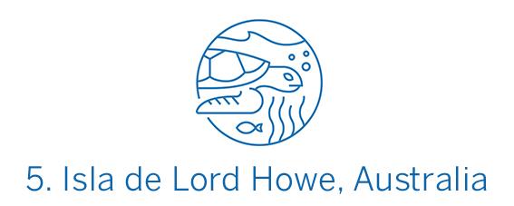 Isla de Lord Howe, región Top 5 Best in Travel 2020
