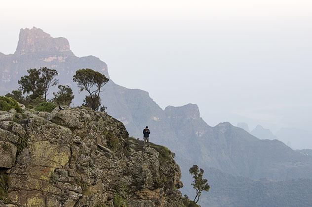 Turismo sostenible: comunidad. Parque Nacional de la montañas Simen, Etiopía