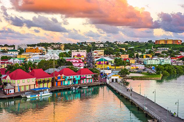 Turismo sostenible: sostenibilidad. Saint John, capital de Antigua y Barbuda