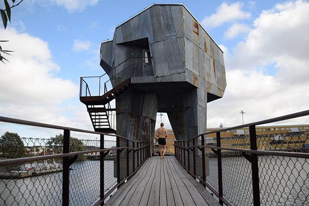 Turismo sostenible: sostenibilidad. La sauna del Jubileumsparken, Gotemburgo, Suecia