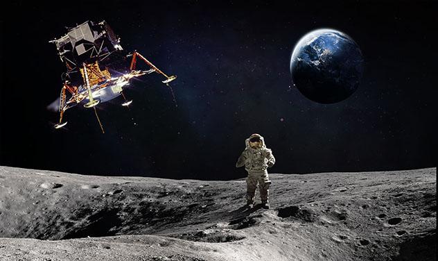 Seguir los pasos de Neil Armstrong en la Luna