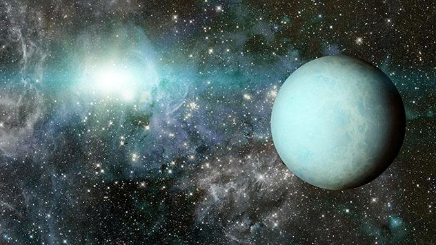 El planeta Urano, sistema solar, universo
