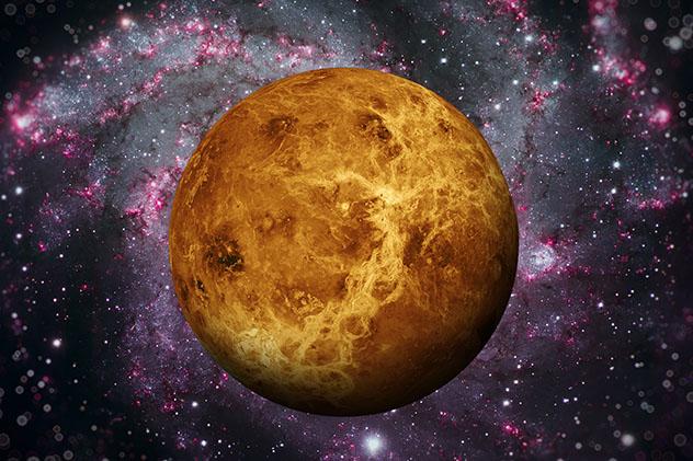 El planeta Venus, sistema solar, universo