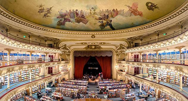 Un viaje virtual con Voyager de Google Earth: librería Ateneo Grand Splendid de Buenos Aires, Argentina