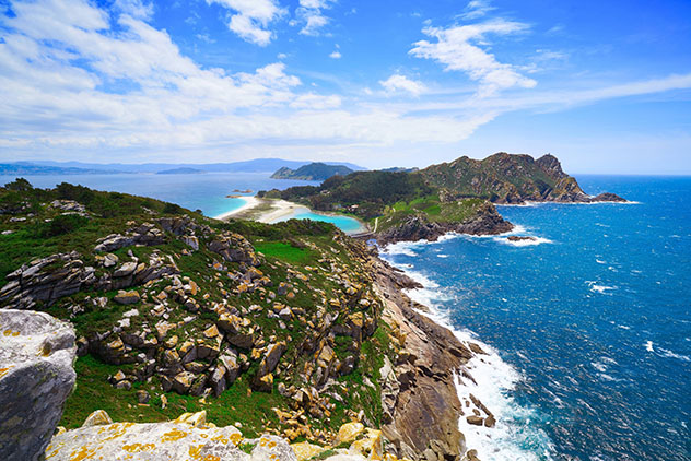 Un viaje virtual con Voyager de Google Earth: costa de Galicia, España