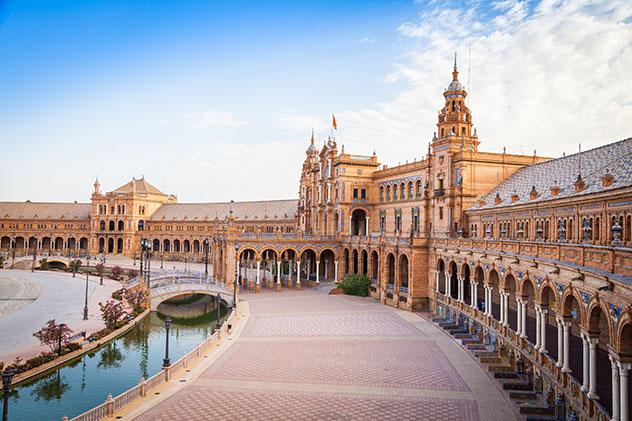 Un viaje virtual con Voyager de Google Earth: Plaza España, Sevilla, España