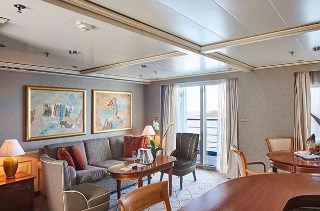 La Grand Royal Suite del Silver Whisper, un crucero de vuelta al mundo