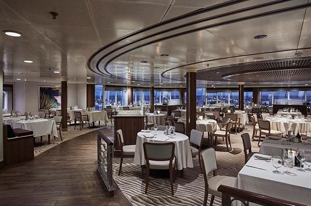 El restaurante La Terrazza del Silver Whisper, un crucero de vuelta al mundo