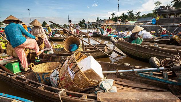 Mercado de Cai Rang, delta del Mekong, Vietnam © Galyna Andrushko /Shutterstock