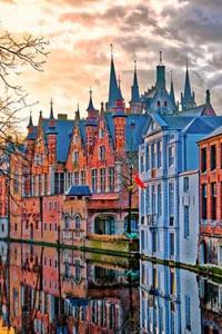 Vista de la ciudad de Brujas, Bélgica