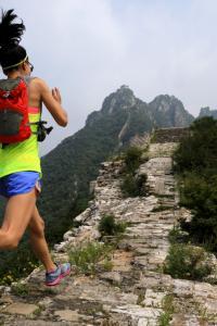 Carrera en la Gran Muralla, China