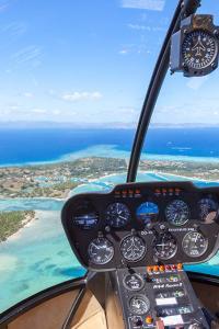 Las islas Fiyi desde un helicóptero