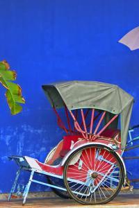 Típico rickshaw en Penangm Malasia
