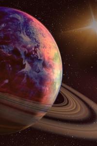 Viaje a Saturno, planeta del sistema solar, universo