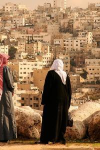 Turismo sostenible: vistas desde la colina de la Ciudadela, Ammán, Jordania