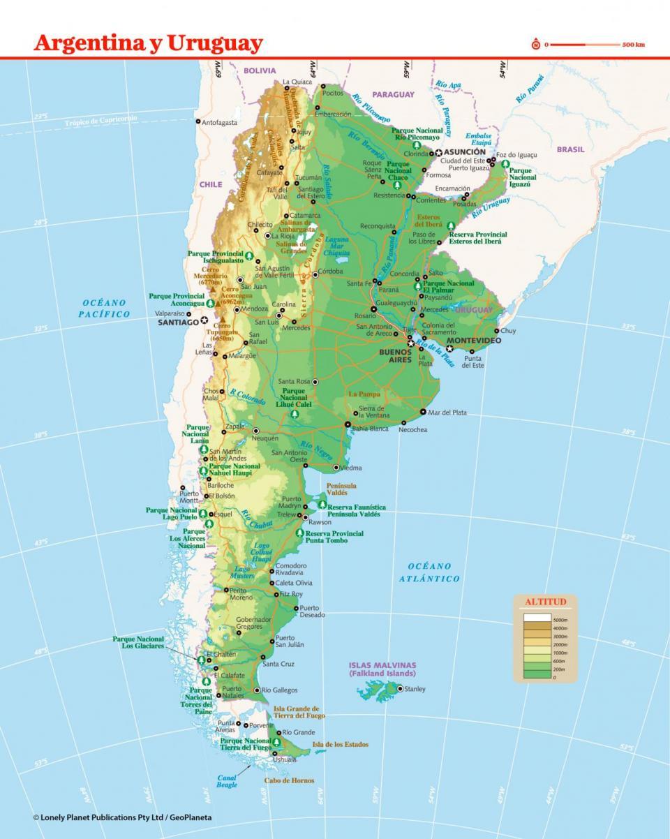 Mapa de Uruguay para preparar tu viaje a Uruguay de la forma más sencilla.