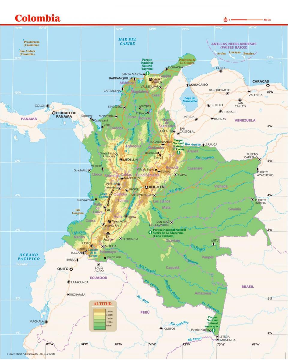Mapa de Colombia para preparar tu viaje a Colombia de la forma más sencilla