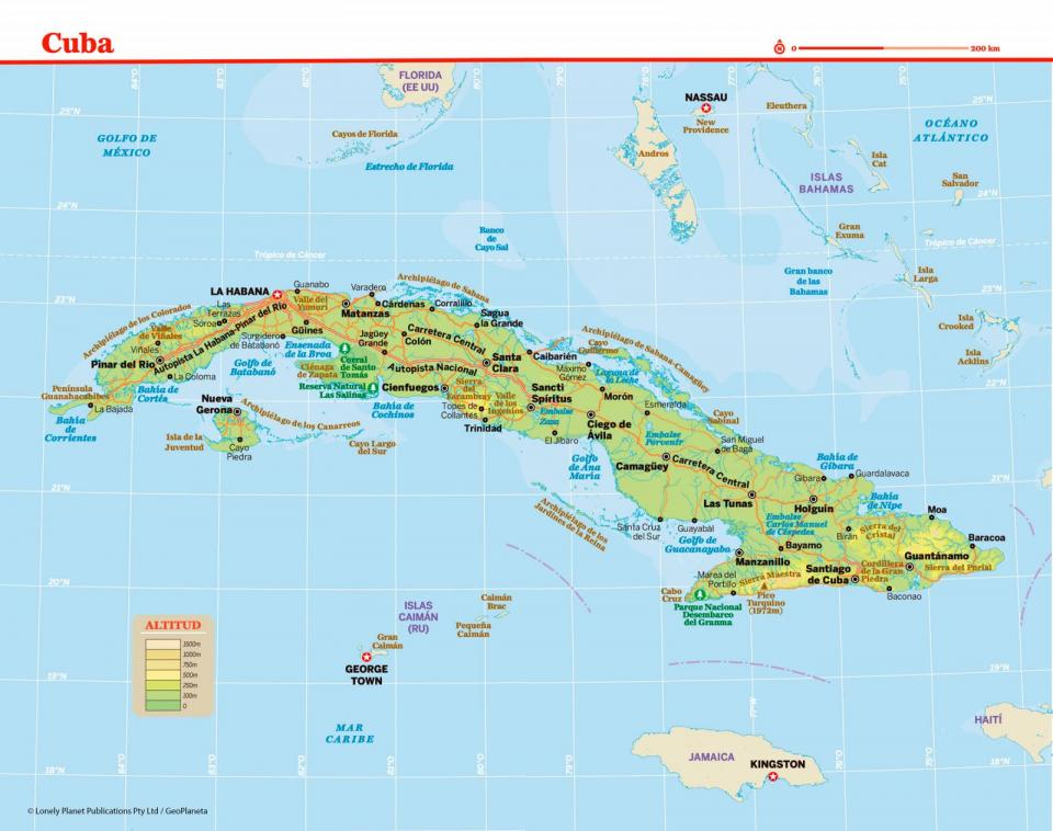 Mapa de Cuba para preparar tu viaje a Cuba de la forma más sencilla.